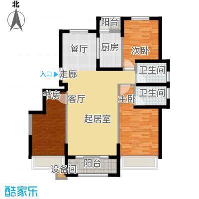 中铁诺德名苑130.00㎡洋房标准层K户型