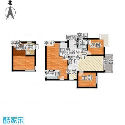 伞塔路丹尼尔小区123.00㎡2面积12300m户型