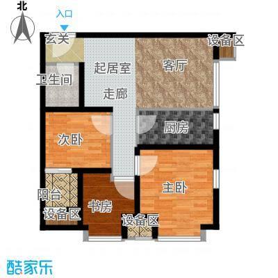 温莎公寓94.00㎡E面积9400m户型