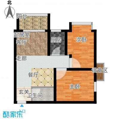 温莎公寓73.00㎡B面积7300m户型