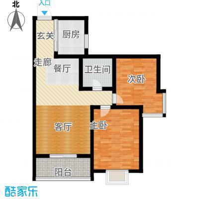 鼎正庆化苑82.05㎡面积8205m户型