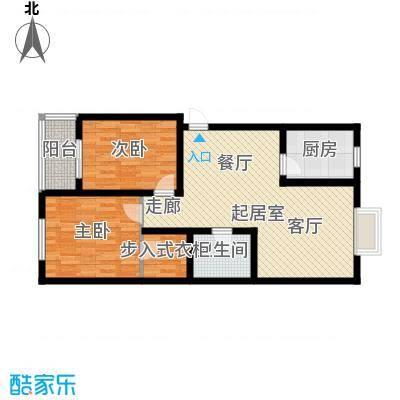 水木白杨93.19㎡1、4号楼G户面积9319m户型
