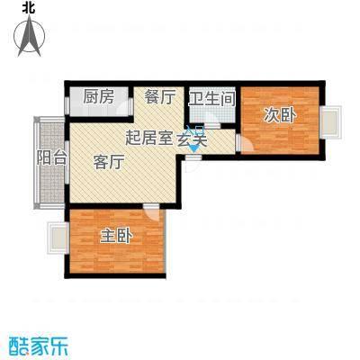 水木白杨91.39㎡1、4号楼H面积9139m户型