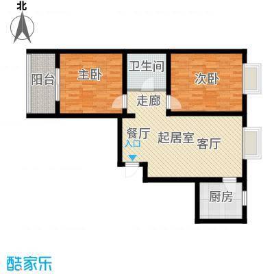 水木白杨93.07㎡1、4号楼E户面积9307m户型