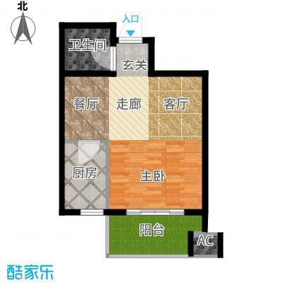 鼎新公寓52.00㎡面积5200m户型