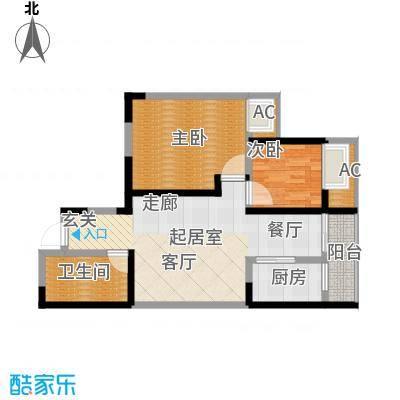 蔚蓝领寓87.20㎡1号楼D1面积8720m户型