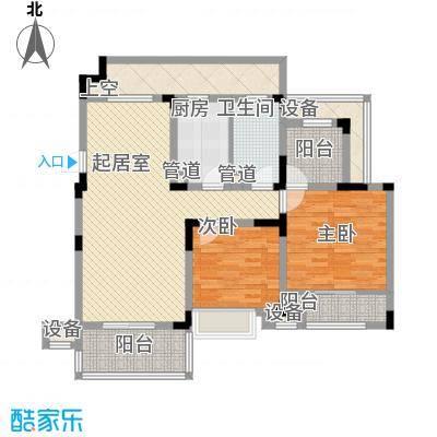 心泊馨城101.61㎡一期4-11号楼标准层s5'户型