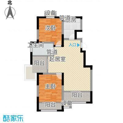 心泊馨城105.62㎡一期2、3号楼标准层h1户型