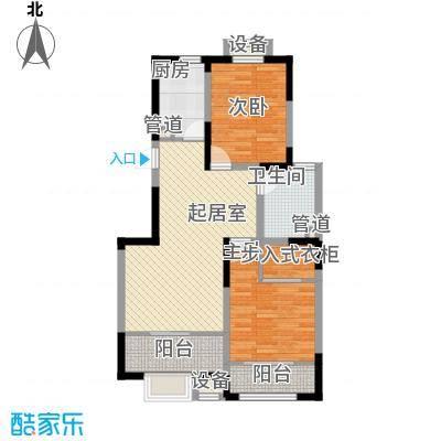 心泊馨城95.05㎡一期2、3号楼标准层h2'户型