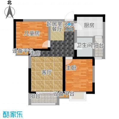贻成豪庭98.00㎡高层标准层D2户型