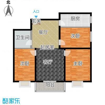 尚东国际城5.70㎡57E面积11913m户型