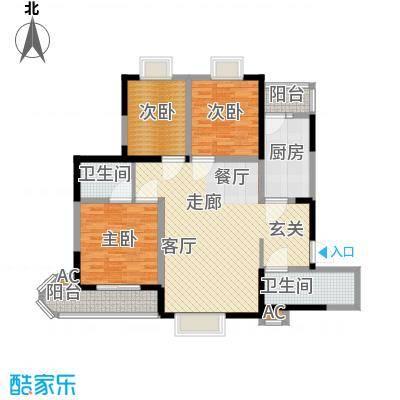 车城温泉花园116.71㎡1#楼标准层面积11671m户型