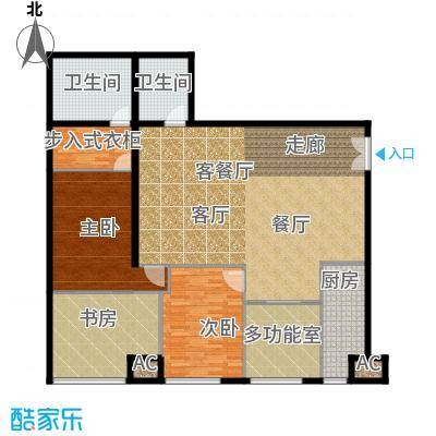 泾渭明珠179.50㎡-F型结构面积17950m户型