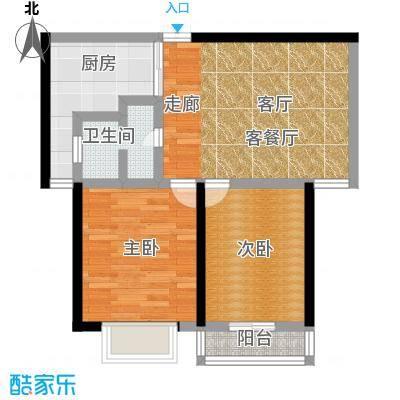 3507家属院59.00㎡面积5900m户型