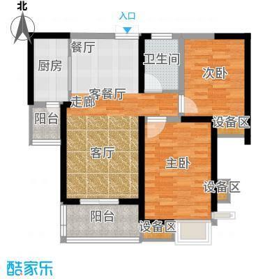 3507家属院58.00㎡面积5800m户型
