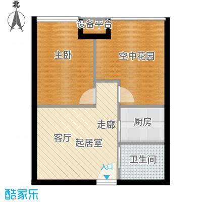 糖果house54.00㎡H1面积5400m户型