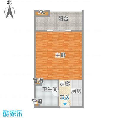 银河科技公寓104.00㎡面积10400m户型