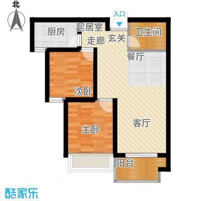龙天名俊71.00㎡5号楼E面积7100m户型