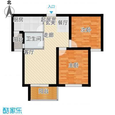 龙天名俊76.00㎡1、3、2、4号楼面积7600m户型