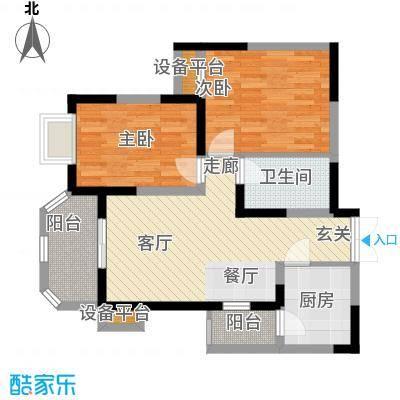 华鑫学府城87.00㎡24#M面积8700m户型