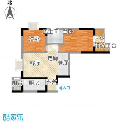 华鑫学府城87.00㎡20#B面积8700m户型