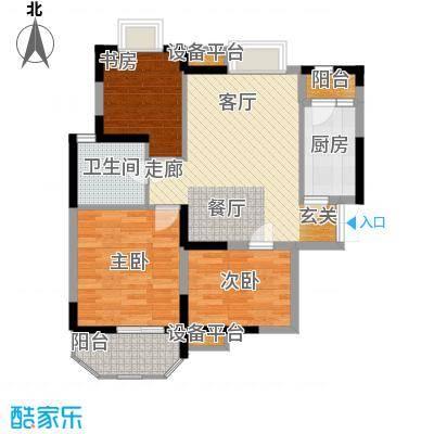 华鑫学府城95.00㎡23#J面积9500m户型