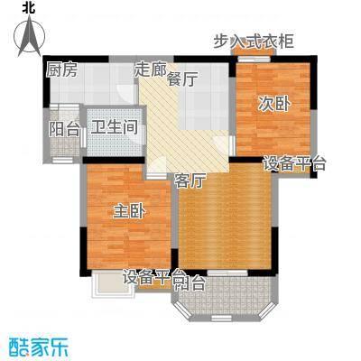 华鑫学府城91.00㎡21#E面积9100m户型