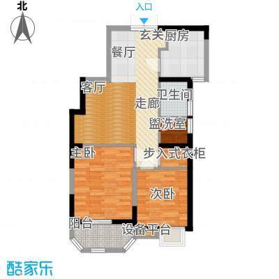 华鑫学府城85.50㎡J面积8550m户型