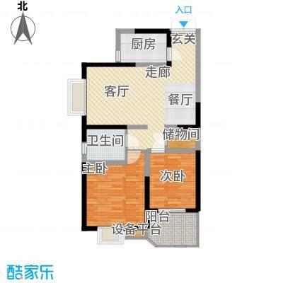 华鑫学府城93.00㎡22#G面积9300m户型