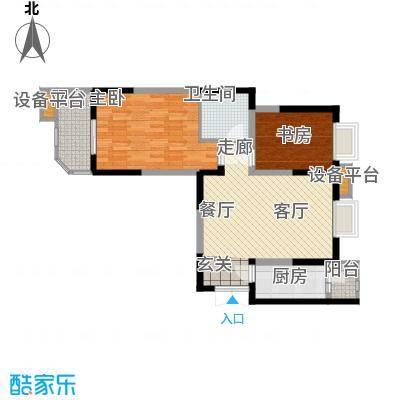 华鑫学府城93.00㎡24#L面积9300m户型