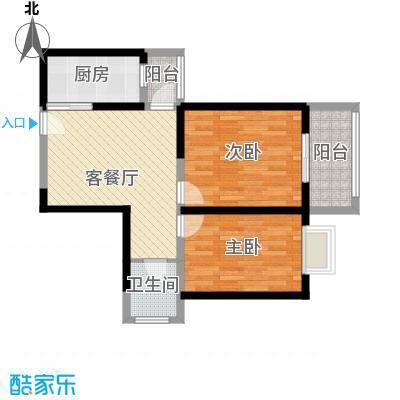 晟方佳苑77.16㎡T1面积7716m户型