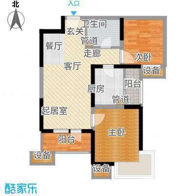 天津湾海景文苑99.00㎡高层标准层C2'户型