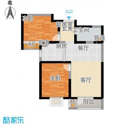 观锦92.03㎡一期高层5、6、7号楼标准层7B1户型