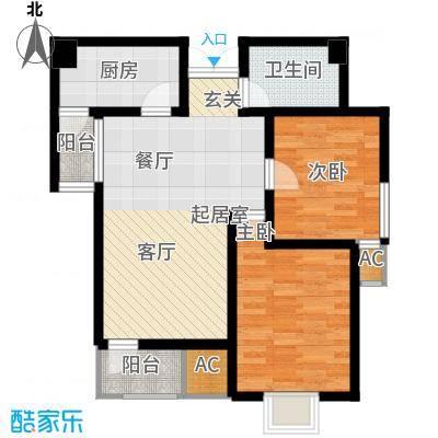 观锦87.77㎡一期高层9号楼标准层2G1`户型