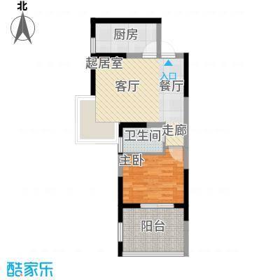 海棠别馆58.20㎡面积5820m户型