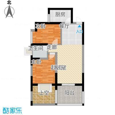 海棠别馆75.50㎡面积7550m户型