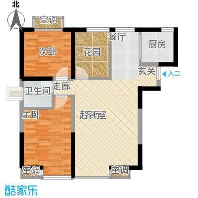 海棠别馆86.70㎡面积8670m户型