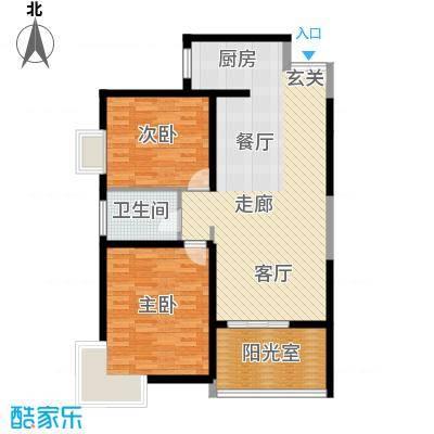 心桥佳苑94.00㎡标准层2面积9400m户型