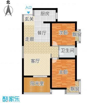 心桥佳苑95.00㎡标准层2面积9500m户型