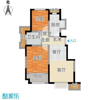 旭辉澜郡84.29㎡电梯洋房标准层I户型
