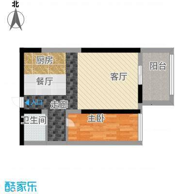旭景兴园52.62㎡5#楼2单元面积5262m户型