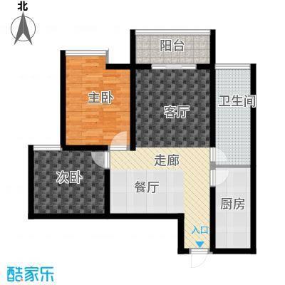 旭景兴园100.77㎡1#楼1单元2号房面积10077m户型