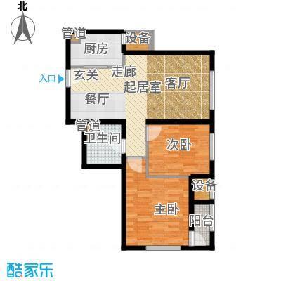 亿城堂庭88.00㎡二期高层标准层G户型