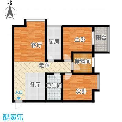 旭景兴园107.56㎡1#楼1单元1号房面积10756m户型
