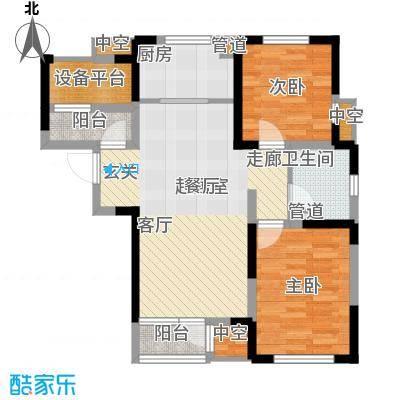 联发第五街92.07㎡一期高层2号楼标准层03户型