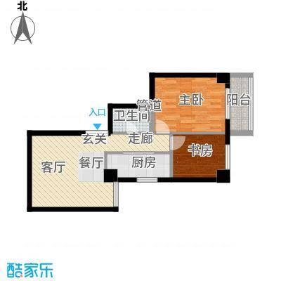 恒大国际公寓85.00㎡面积8500m户型