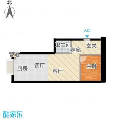 恒大国际公寓48.00㎡面积4800m户型