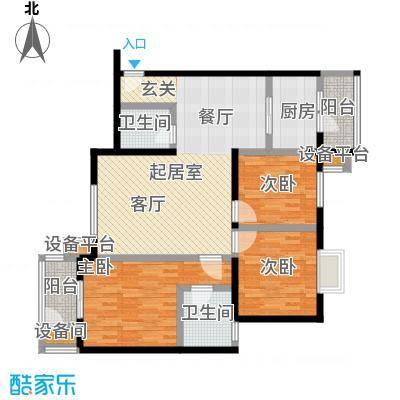 海天华庭123.00㎡G平面图面积12300m户型
