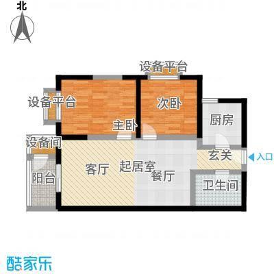 海天华庭91.00㎡B平面图面积9100m户型