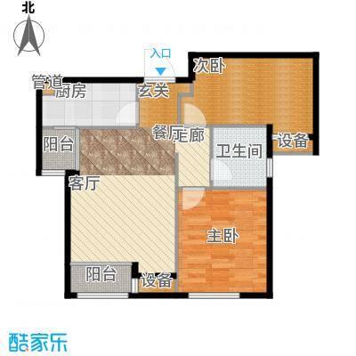天津诺德中心90.00㎡高层8、9#楼标准层D2户型
